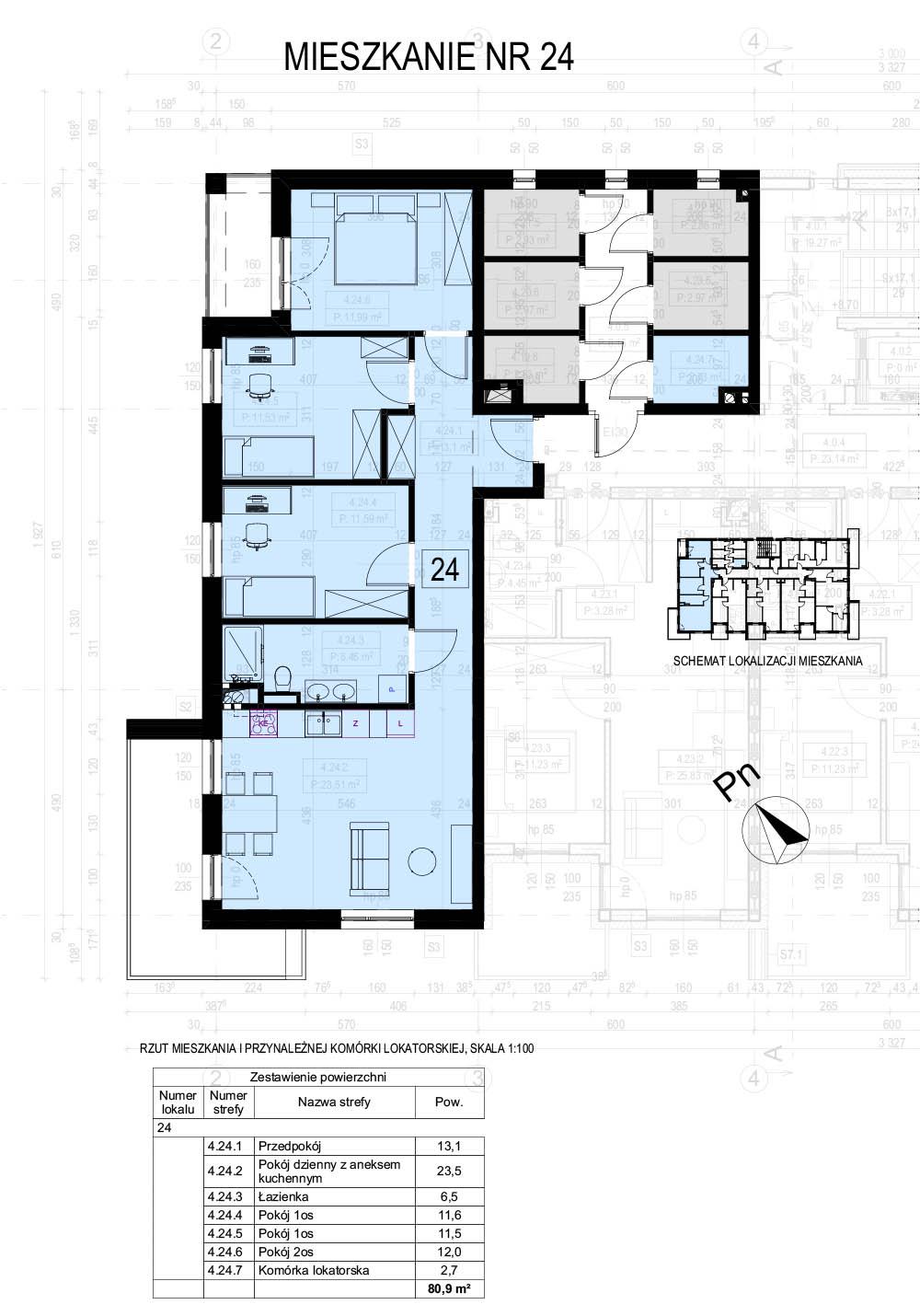 Budowa zespołu trzech mieszkalnych budynków wielorodzinnych z